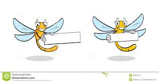 cute cartoon dragonfly character stock vector image 49307751