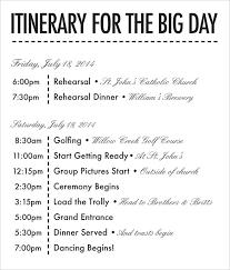 wedding itinerary wedding schedule template 26 wedding itinerary templates free