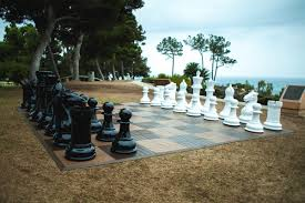 fiberglass chess set with 48