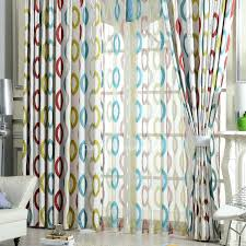 Geometric Pattern Curtains Geometric Curtains Blue Yellow And Modern Curtains