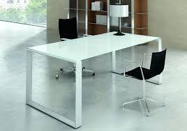 bureau dessus verre bureau dessus verre bureau verre blanc seven 6 bureau avec plateau