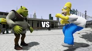 shrek homer simpson battle gta iv