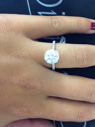 2 carat solitaire engagement rings show me your 2ct or more solitaire a on a 5 5 to 6
