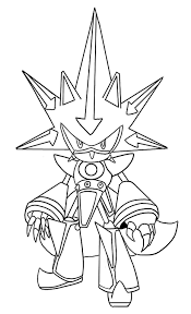 metal sonic coloring pages free printable sonic the hedgehog