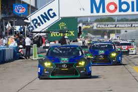 lexus drivers job 3gt racing lexus rc f gt3 cars meet the checkered flag at sebring