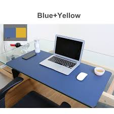Gaming Desk Mat 80x40cm Both Sides Extended Pu Leather Mouse Pad Office Computer