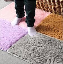 Soft Bathroom Rugs Soft Comfy Absorbtion Dust Doormat Bedroom Floor Rug Fluffy Mats