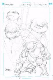 batman teenage mutant ninja turtles original art freddie e