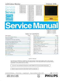 philips 170b6 150b6 190b6 service manual pixel display resolution