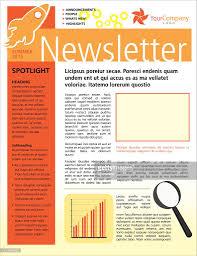 company business newsletter design flyer template vector art
