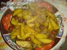 cuisine marocaine tajine tajine de poulet aux pomme de terre citron confit et olives