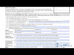 learn how to fill the form w 7 application for irs individual