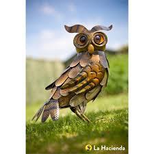 harry the owl garden ornament at homebase co uk