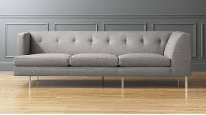 Grey Sofa Bed Avec Grey Left Arm Corner Sofa With Brushed Stainless Steel Legs Cb2