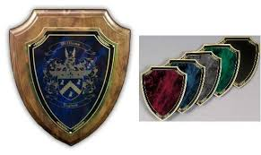 coat of arms laser engraved marble wooden wall plaque