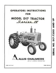 allis chalmers model a gleaner baldwin combine operator u0027s instructio
