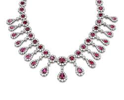 diamond necklace ruby images Antique burma ruby and diamond necklace jewelry m s rau antiques png