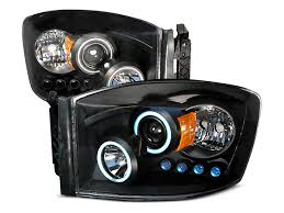 led halo headlight accent lights axial ram black ccfl halo projector headlights w led accent lights