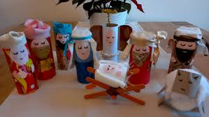 the finished toilet roll nativity scene toilet toilet paper and