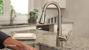 moen one handle kitchen faucet moen arbor with motionsense one handle high arc pulldown kitchen