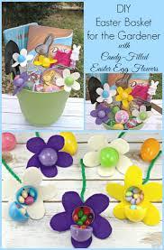 filled easter baskets for kids diy easter basket for the gardener candy filled easter egg flowers