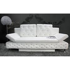 canapé lit blanc canapé lit capitonné strass blanc achat vente canapé sofa