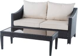 Patio Chair With Ottoman Danica Patio Loveseat U0026 Ottoman Set U0026 Reviews Joss U0026 Main