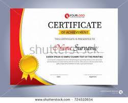 geometric certificate template flat creative design stock vector