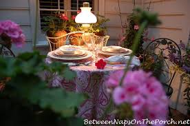 Table For Two by Romantic Table For Two On The Deck