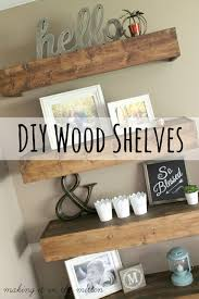 40 diy rustic wood shelves you can build yourself