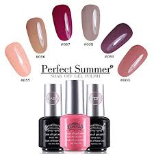 amazon com perfect summer uv led soak off gel nail polish
