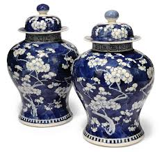 Blue Vase Story 19th Century Chinese Blue And White Prunus Vases And Covers