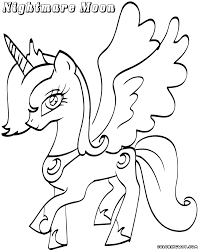 nightmare moon coloring pages coloring pages to download and print