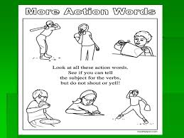 verbs u2013 part i unit action verbs an action verb is a word that