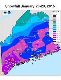 Map Maine Record Setting Snowy 7 To 10 Days For Downeast Maine