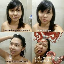 Asian Women Meme - 13 hilarious memes about how different people take showers