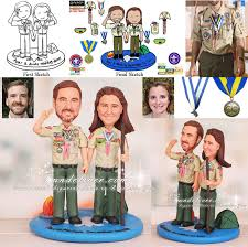 eagle scout cake topper boy scout theme scoutmaster wedding cake toppers