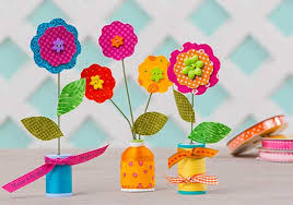 Make Flower With Paper - easy folded paper flowers