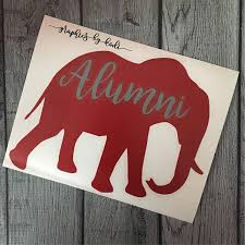 alabama alumni sticker alabama crimson tide alumni elephant decal crimson tide