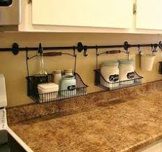 organizing the kitchen counter with a simple tray tips