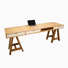 buy a hand made white oak sawhorse desk made to order from the