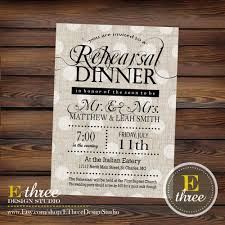 rehearsal lunch invitations rehearsal dinner invitations rustic black and gray linen