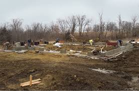 new home foundation project in progress new home beginning construction tips silent