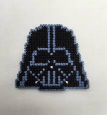 Darth Vader Christmas Tree Topper by Plastic Canvas Cross Stitched Darth Vader Magnet