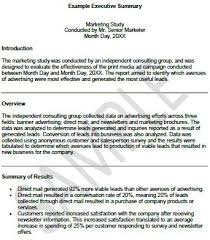 Executive Summary Resume Samples by Sample Executive Reports Executive Summary Example Resume Retail