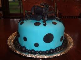 blue black birthday cake w bow cakecentral com