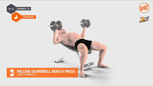 Incline Dumbell Bench Press ท าฝ กกล ามอก Incline Dumbbell Bench Press Youtube