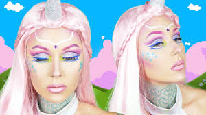 unicorn halloween makeup tutorial with kristen leanne youtube