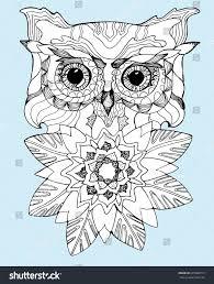 portrait owl owls head abstract bird stock vector 393080719