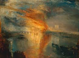 joseph mallord william turner paintings the burning of the houses